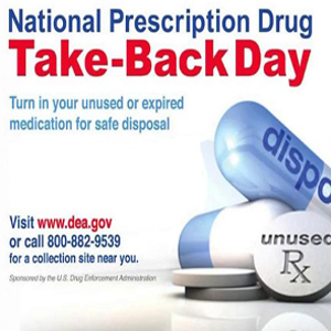 Drug Take Back Day: Safe Disposal of Unneeded and Expired Medications