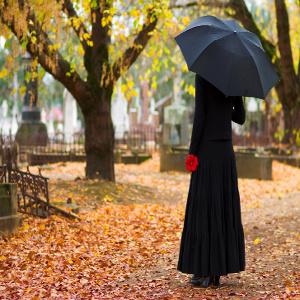family caregiver grieving for senior loved one