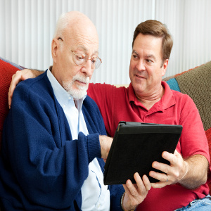 Tablets: Valuable Tools for Senior Dads; Teaching Their Use is a Valuable Gift