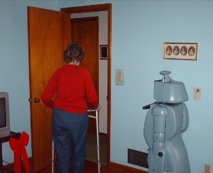 CareBot following senior out of room